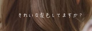 きれいな髪色してますか?美容師小木曽のブログ
