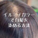 イルミナカラーで白髪を染める方法