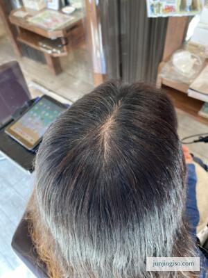 イルミナカラー白髪染めbefore