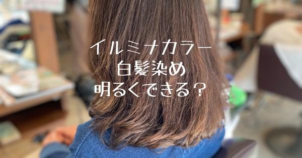 イルミナカラーで白髪染め明るくできる?