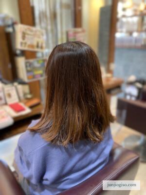 イルミナカラー白髪染めレシピ 中間〜毛先before