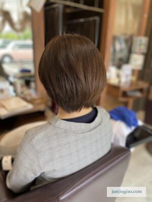 イルミナカラーオーシャン白髪染めレシピ 中間〜毛先